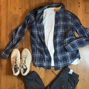 Hollister flannel over shirt